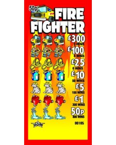 Fire Fighter 50p Pull Tab Lottery Ticket