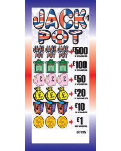 Jackpot £1 Pull Tab Lottery Ticket