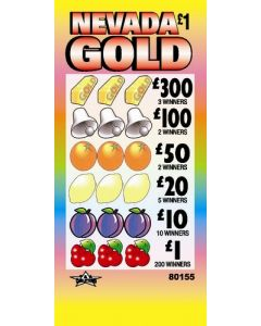 Nevada Gold £1 Pull Tab Lottery Ticket