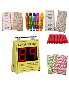 Bingo Starter Kit with Thomas Super Select Bingo Machine